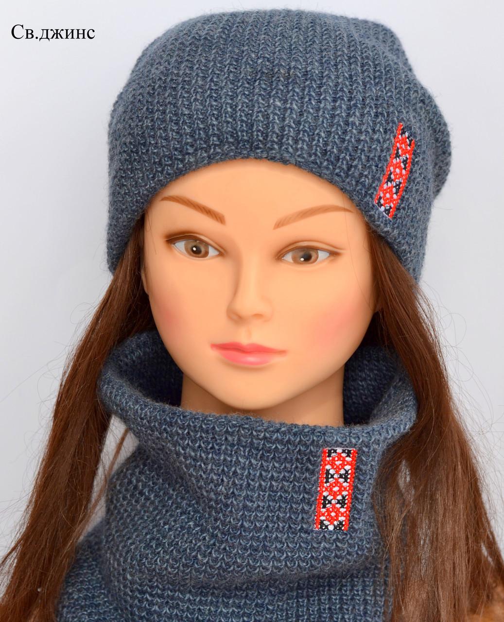 Стильная вязаная шапка для женщин