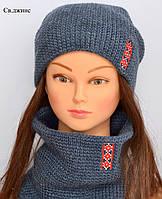 Стильная вязаная шапка для женщин, фото 1