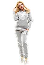 Теплый спортивный костюм 503 серый