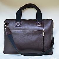 Деловой портфель женский VS111 dark brown 38х28х3 см