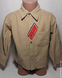 Рубашка микровельвет однотонная 2169