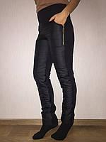 Штаны женские болонь, ростовкой, размеры XL, 2XL, 3XL, 4XL №4002, фото 1