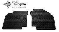 Резиновые коврики Stingray Стингрей Ниссан Максима КуИкс (А33) 2000- Комплект из 2-х ковриков Черный в салон. Доставка по всей Украине. Оплата при