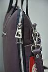 Деловой портфель женский VS111 brown 38х28х3 см, фото 3