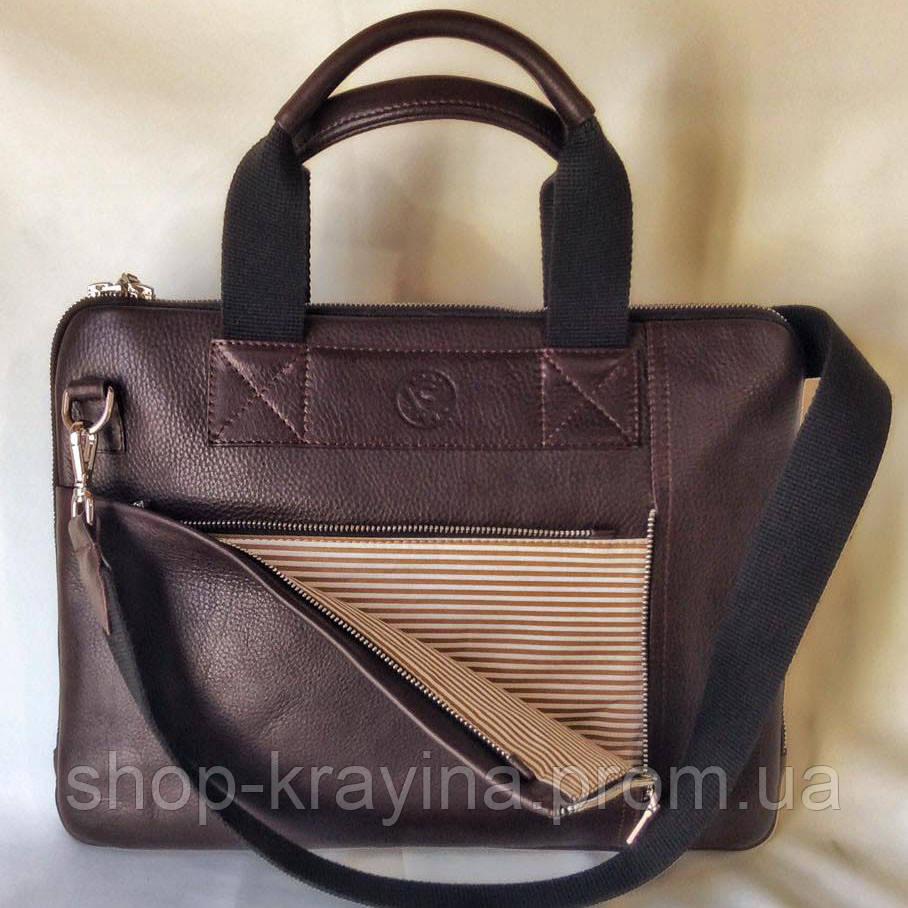 Деловой портфель женский VS111 brown 38х28х3 см