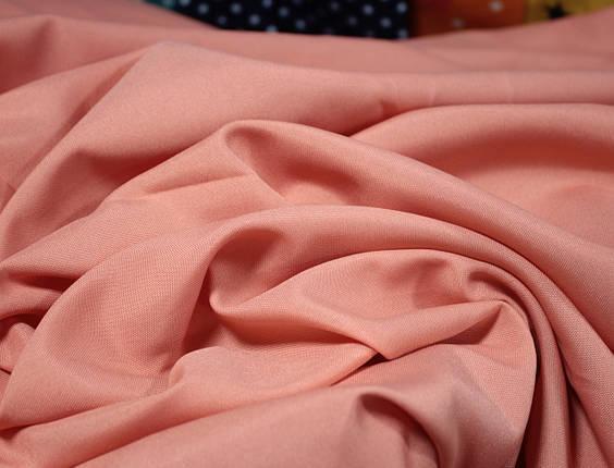 Костюмная ткань габардин персиковый, фото 2