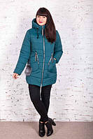 Женская зимняя куртка  батальных размеров