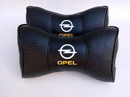Подушки на подголовник  с логотипом автомобиля Opel чёрный цвет