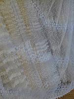 Тюль с вышивкой (основа-фатин)