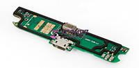 Нижняя плата Lenovo A830 с разъемом зарядки, микрофоном и виброзвонком