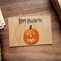 """Деревянная открытка """"Halloween Pumpkin"""""""