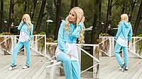 Женский комбинированный костюм в спортивном стиле, в расцветках