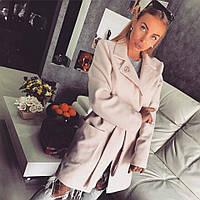 Кашемировое женское пальто классического стиля с поясом 180221 6e8932931cfad