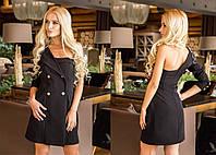 Оригинальное платье с одним рукавом и лацканом 3103225