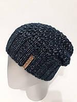 Женская шапка-чулок из полушерсти на флисе внутри 120725