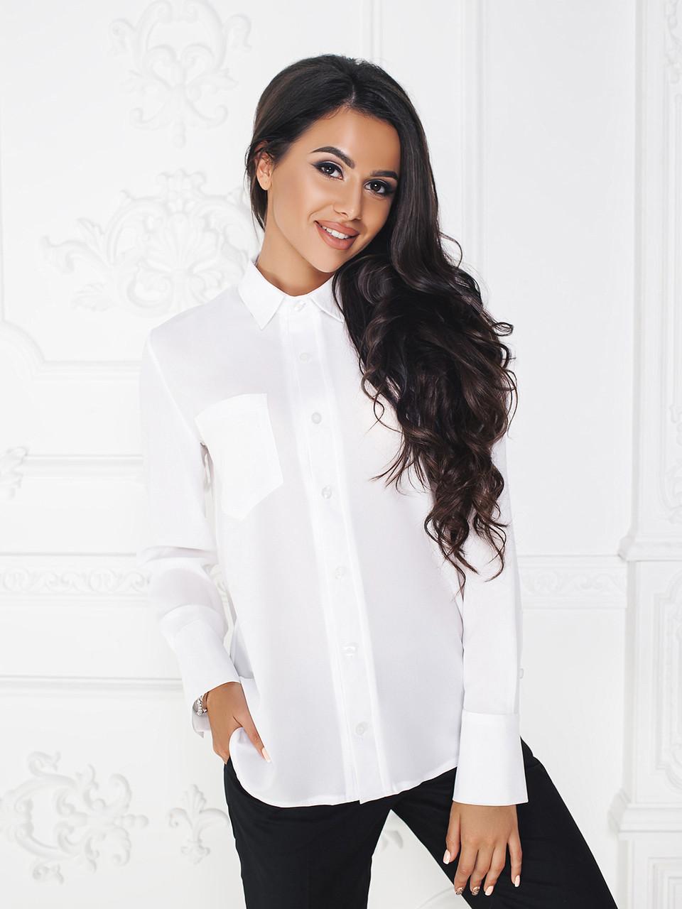 Рубашка белая Амандин классика