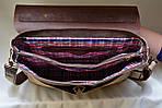 Кожаная сумка VS113 brown canvas 40х32х12 см, фото 5