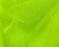 Фатин середньої жорсткості, лайм колір, ширина 3 м