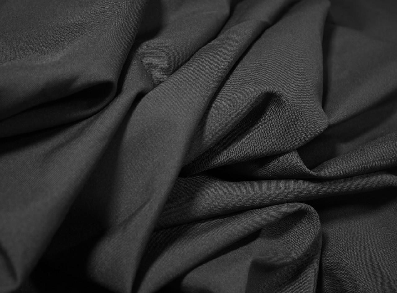 Костюмная ткань габардин темно- серый графит