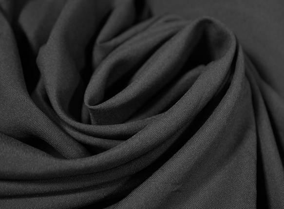 Костюмная ткань габардин темно- серый графит, фото 2