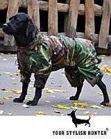 Одежда Комбинезон для Собак крупных пород  Powerful Hunter, дождевик большая собака