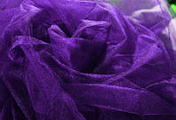 Фатин средней жесткости, фиолетовый цвет, ширина 3 м