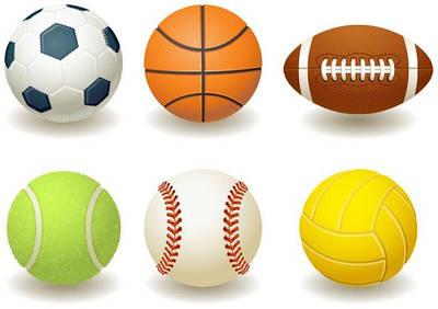 М'ячі (футбол, баскетбол, волейбол, теніс)