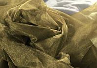Фатин середньої жорсткості, бежевий колір, ширина 3 м