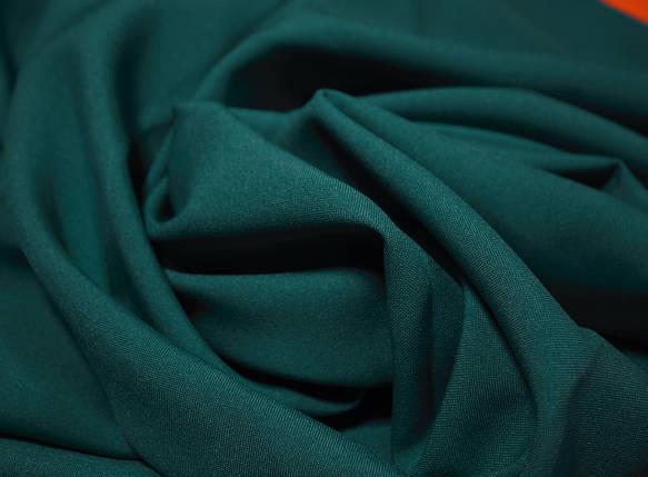 Костюмная ткань габардин изумрудный, фото 2