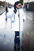 Женское зимнее теплое пальто больших размеров ц-202966