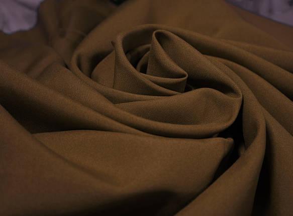 Костюмная ткань габардин коричневый, фото 2