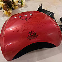 Лампа для гель лака уф/лед 10,30,60сек и 3мин, 36вт, сенсор,  красная