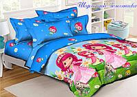 Комплект постельного белья для детей Шарлотта Земляничка (160х220) (ДП евро-071)
