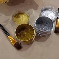 Зеркальная втирка, набор 2шт, золото и серебро