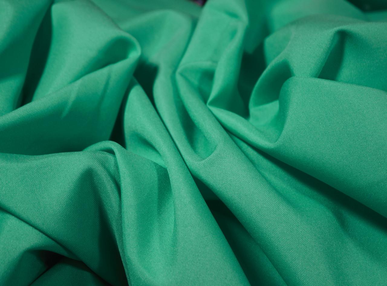 Костюмная ткань габардин зеленая бирюза
