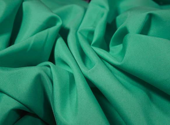 Костюмная ткань габардин зеленая бирюза, фото 2