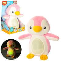 Ночник Пингвин (плюшевый) розовый 0160G-NL музыкальный со звуками природы в коробке 16х24,5х16 смWinFun