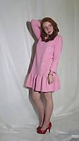 Платье женское розовое из двухнитки и в других цветах Сукня жіноча міні чорна
