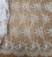 Гипюр белый из каталога -тканей для вечерних платьев Р0003
