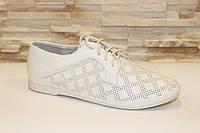 Туфли белые женские шнурок Т708 р 36,39,40