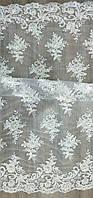 Свадебный гипюр вышитый кордом цвета айвори P2452-BX