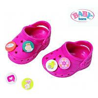 Обувь для куклы тёмно-розовые кроксы Baby Born Zapf Creation 822067C