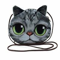 Детская сумка серая кошка, 3D принт
