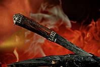 """Авторский нож ручной работы """"Призрачный гонщик"""", мозаичный дамасск, белый металл (наличие уточняйте)"""
