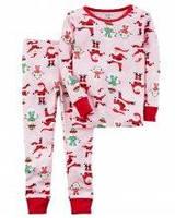 Новогодняя пижамка в Санта Клаусы Carters для девочки от 2 до 5 лет