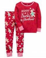 Пижама с новогодним рисунком Carters для девочки