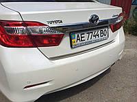 Хром накладка на кромку багажника Toyota Camry 50 2011-2015 (нержавеющая сталь)