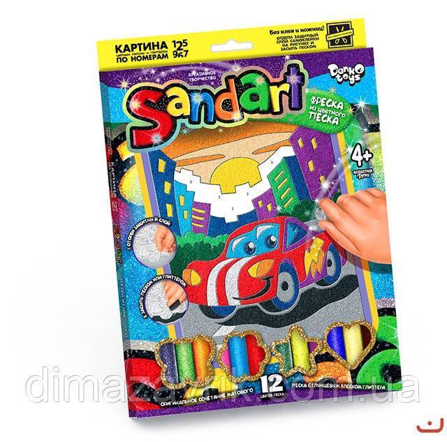 """Набор для творчества """"Sand Art"""" фреска из цветного песка"""