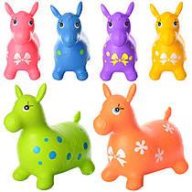 Стрибун дитячий Конячка гумовий надувний різні кольори 0732