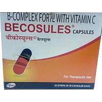 Becosules-комплекс витаминов группы B (B1 B2 B3 B5 B6 B7 B9 B12)+Vitamin C / 20 capsules.